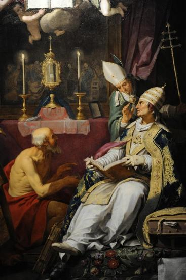 The Four Fathers of the Church, 1632, by Abraham Bloemaert (1566-1651) Netherlands-Abraham Bloemaert-Giclee Print