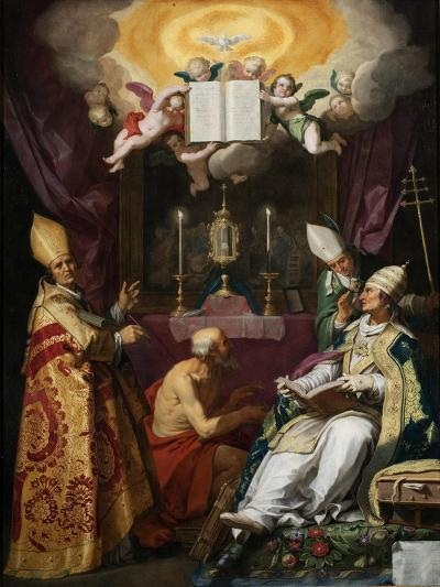 The Four Fathers of the Latin Church-Abraham Bloemaert-Giclee Print