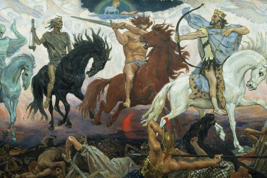 The Four Horsemen of the Apocalypse, 1887-Victor Mikhailovich Vasnetsov-Giclee Print