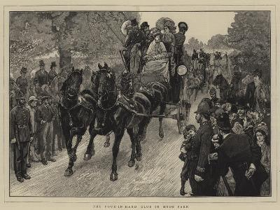 The Four-In-Hand Club in Hyde Park-William Small-Giclee Print