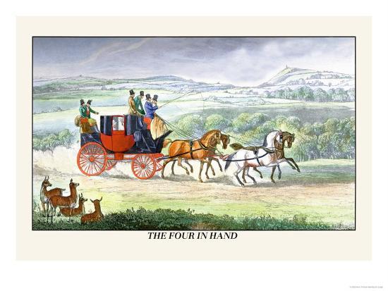 The Four In Hand Art Print Henry Thomas Alken Art Com