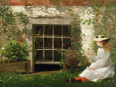The Four Leaf Clover, 1873-Winslow Homer-Giclee Print