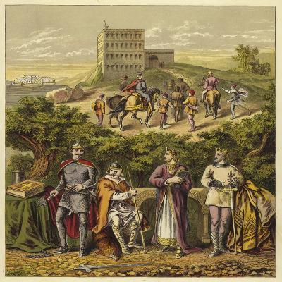 The Four Norman Kings of England; King William I, King William Ii, King Henry I, King Stephen--Giclee Print