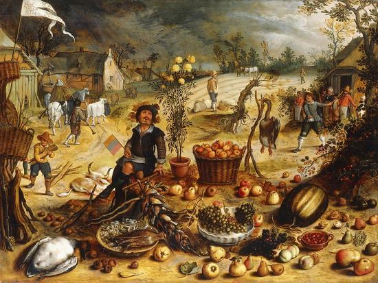 The Four Seasons - Autumn-Sebastian Vrancx-Giclee Print