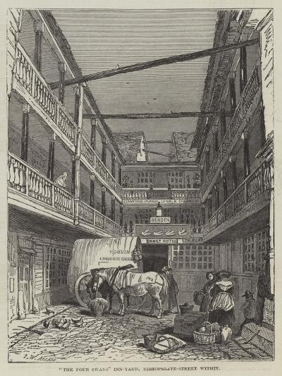 The Four Swans Inn-Yard, Bishopsgate-Street Within-John Wykeham Archer-Giclee Print