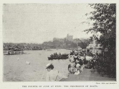 The Fourth of June at Eton, the Procession of Boats--Giclee Print