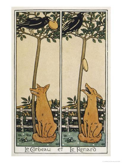 The Fox and the Crow-T^c^ Derrick-Giclee Print