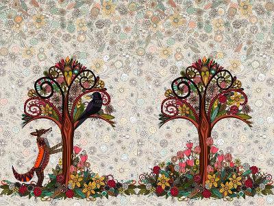 The Fox and the Crow-Sharon Turner-Art Print