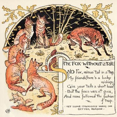 The Fox Without a Tail, Illustration from 'Baby's Own Aesop', Engraved and Printed by Edmund…-Walter Crane-Giclee Print