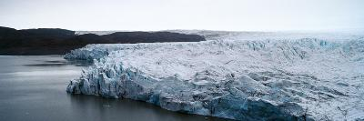 The Fracture Zone of a Glacier on the Greenland Ice Sheet Ending in a Lake-Jason Edwards-Photographic Print