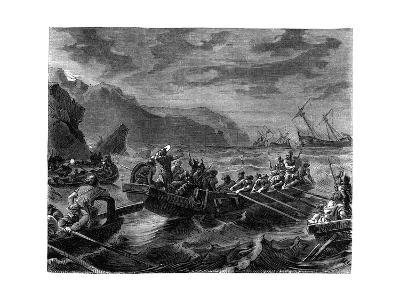 The Franks Cross the Raging Sea, 1882-1884--Giclee Print