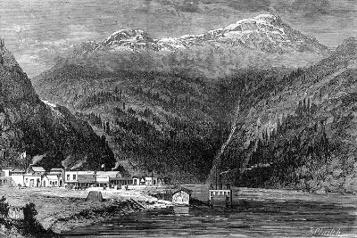 The Fraser River, British Columbia, Canada, 19th Century- Leitch-Giclee Print