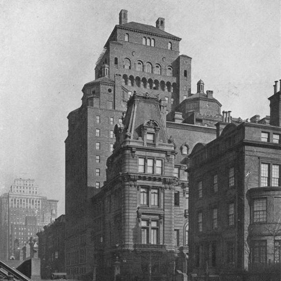 The Fraternity Clubs Building from Madison Avenue, New York City, 1924-Unknown-Photographic Print