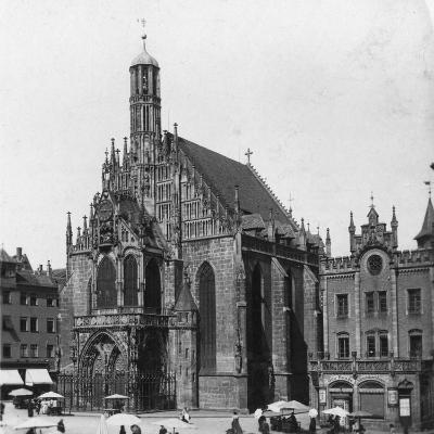 The Frauenkirche, Nuremberg, Bavaria, Germany, C1900-Wurthle & Sons-Photographic Print