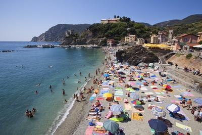 The Free Beach in the Old Town at Monterosso Al Mare-Mark Sunderland-Photographic Print