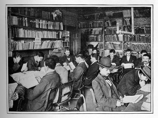 The Free Russian Library and reading room, 15 Whitechapel Road, Stepney, London, c1901-Unknown-Photographic Print