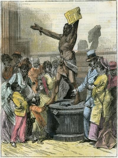 The Freed Slave, Statue in Memorial Hall, Centennial Exhibition, Philadelphia, USA, C1876--Giclee Print