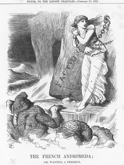 The French Andromeda; Or, Wanted, a Perseus, 1883-Joseph Swain-Giclee Print