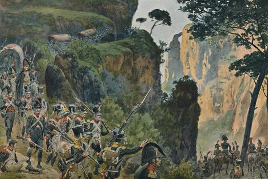 'The French Army in the Mountains of Portugal', 1896-Unknown-Giclee Print