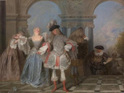 The French Comedians, c.1720-Jean Antoine Watteau-Giclee Print