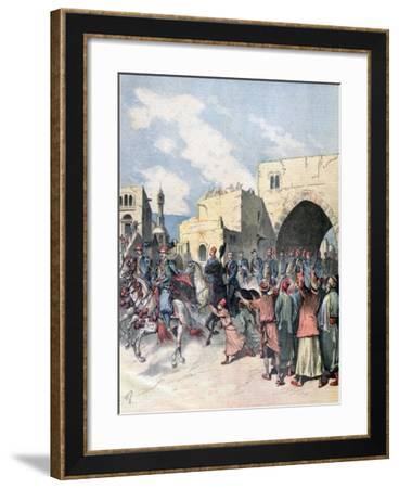 The French Consul Arrives in Bethlehem During Christmas Festivities, 1892-Henri Meyer-Framed Giclee Print