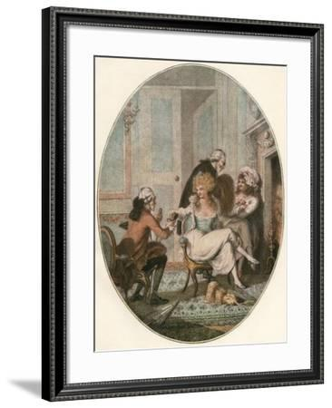 The French Fireside--Framed Giclee Print