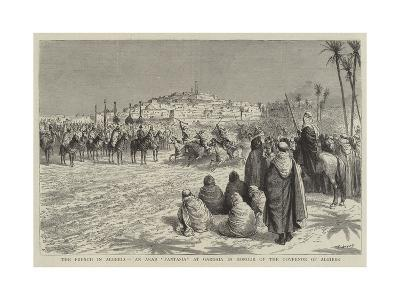 The French in Algeria, an Arab Fantasia at Gardaia in Honour of the Governor of Algiers-Godefroy Durand-Giclee Print