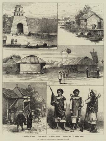 The French in Cochin China, Sketches of Hue--Giclee Print