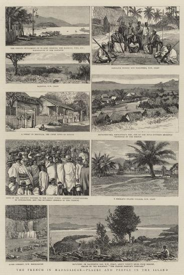 The French in Madagascar, Places and People in the Island--Giclee Print