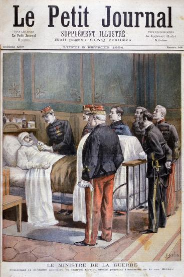 The French Minister for War Giving a Military Decoration, 1894-Jose Belon-Giclee Print