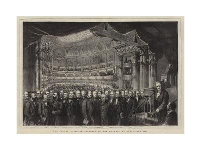 The French National Assembly in the Theatre at Versailles, 1873--Giclee Print