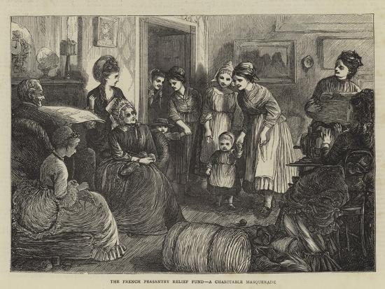 The French Peasantry Relief Fund, a Charitable Masquerade--Giclee Print