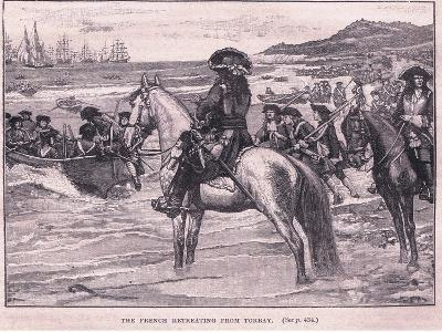 The French Retreating from Torbay Ad 1690-William Barnes Wollen-Giclee Print