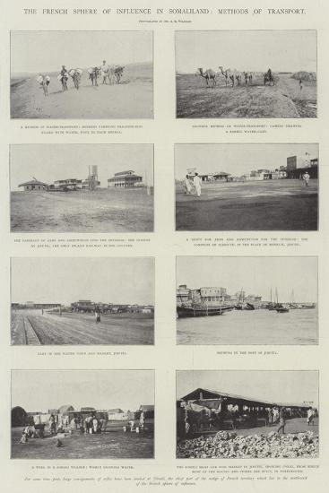 The French Sphere of Influence in Somaliland, Methods of Transport--Giclee Print