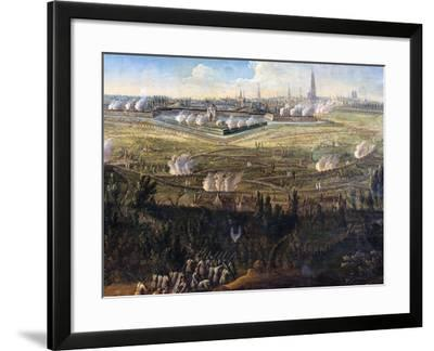 The French Successfully Besiege Antwerp, 21 to 31 May 1746--Framed Giclee Print