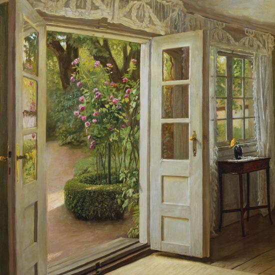 The French Windows-John Leopold Lubschitz-Giclee Print