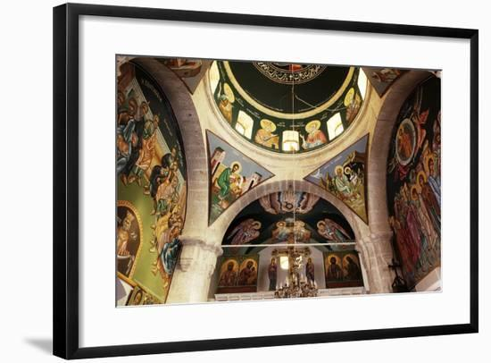 The Frescoes in the Church of the Greek Orthodox Convent of St Thecla (Taqla), Maaloula, Syria--Framed Photographic Print