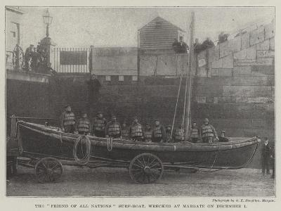 The Friend of All Nations Surf-Boat, Wrecked at Margate on 1 December--Giclee Print