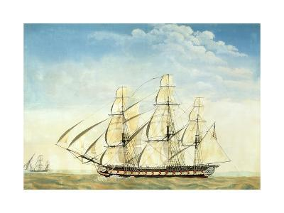 The Frigate Uss Essex-Joseph Howard-Giclee Print