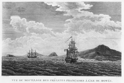 The Frigates of La Perouse at the Island of Maui--Giclee Print