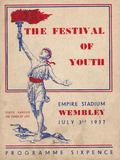 The front cover of the programme for The Festival of Youth, 1937-Unknown-Giclee Print