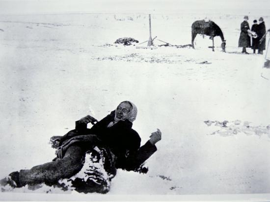 The Frozen Body of Chief Big Foot--Photographic Print