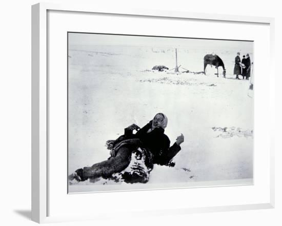 The Frozen Body of Chief Big Foot--Framed Photographic Print