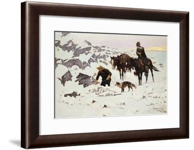 The Frozen Sheepherder-Frederic Sackrider Remington-Framed Giclee Print