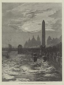 The Frozen Thames, Seagulls Circling Round Cleopatra's Needle