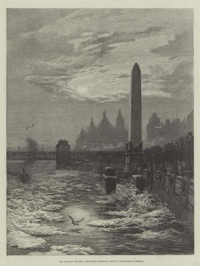 The Frozen Thames, Seagulls Circling Round Cleopatra's Needle--Giclee Print