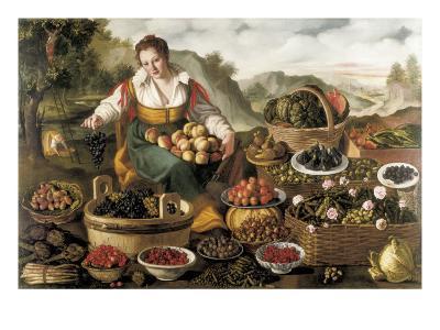 The Fruit Seller-Vincenzo Campi-Art Print