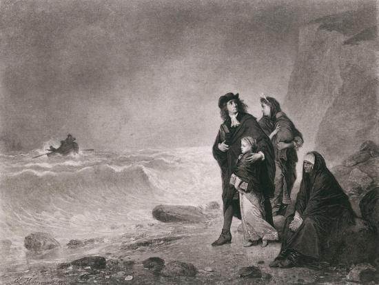 The Fugitives, Depicts Huguenots Refugees from France, Ca. 1785--Art Print
