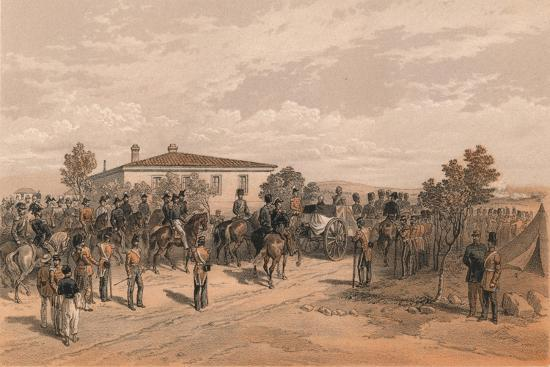 The Funeral Cortege of Lord Raglan Leaving Head Quarters, 1856-Thomas Picken-Giclee Print