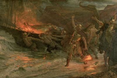 The Funeral of a Viking, 1893-Frank Bernard Dicksee-Giclee Print
